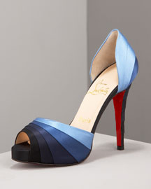 Armadillo Striped Satin d'Orsay by Christian Louboutin - $790