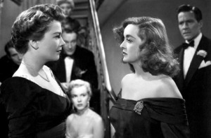 Anne Baxter and Bette Davis