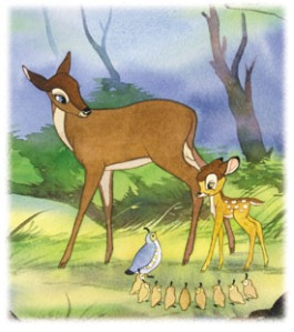 """Mother"" and Bambi"