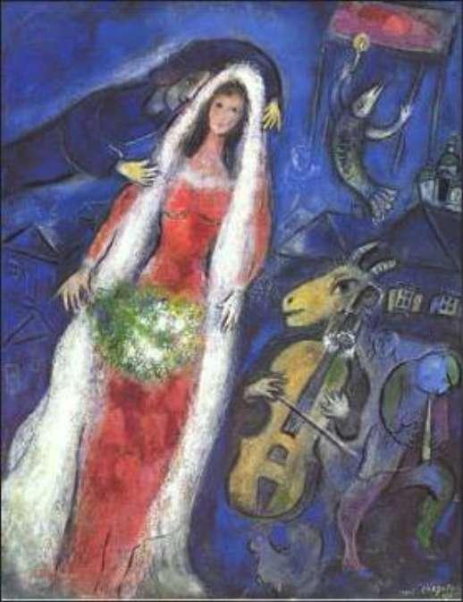 Marc Chagall - La Mariee
